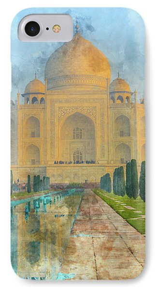 Taj Mahal In Agra India IPhone Case