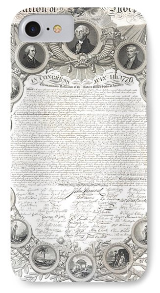 The Declaration Of Independence  IPhone Case by American School