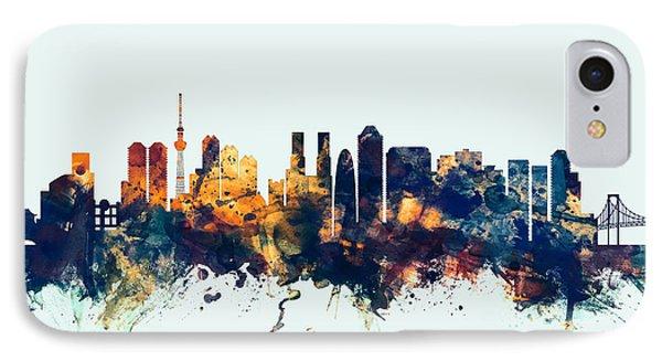 Tokyo Japan Skyline IPhone 7 Case by Michael Tompsett