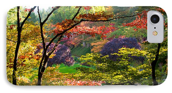 Trees In A Garden, Butchart Gardens IPhone Case by Panoramic Images