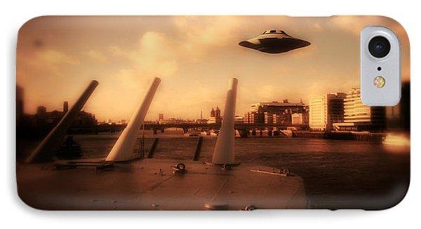 Ufo Sighting IPhone Case by Raphael Terra