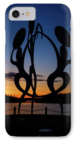 United In Celebration Sculpture At Sunset 1 IPhone Case by John McArthur