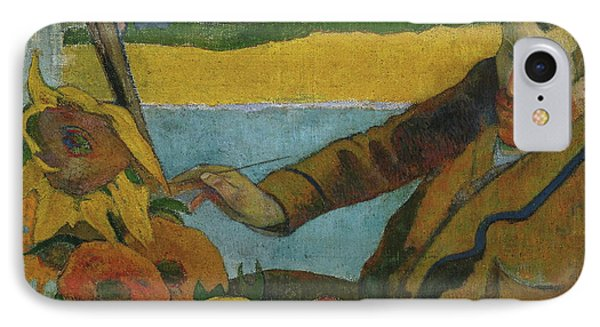 Vincent Van Gogh Painting Sunflowers  IPhone Case by Paul Gauguin