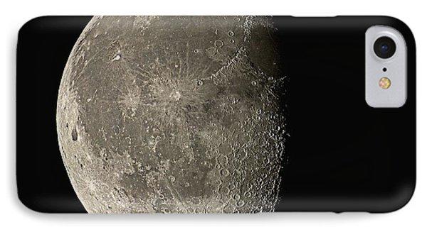 Waning Gibbous Moon IPhone Case by Eckhard Slawik