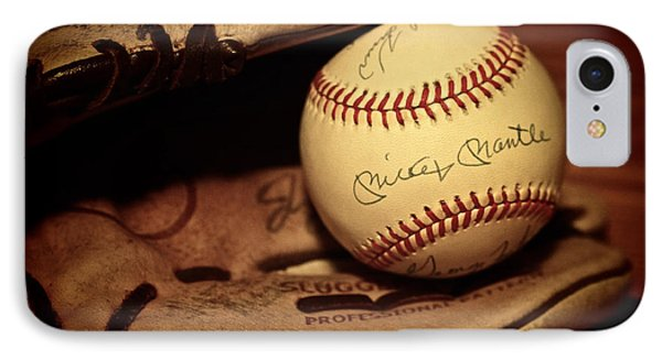 50 Home Run Baseball IPhone Case by Mark Miller