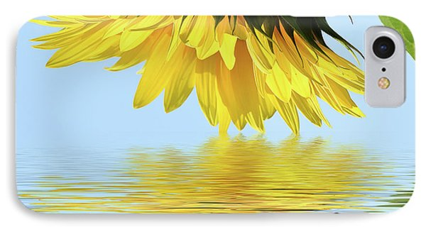 Nice Sunflower IPhone Case by Elvira Ladocki