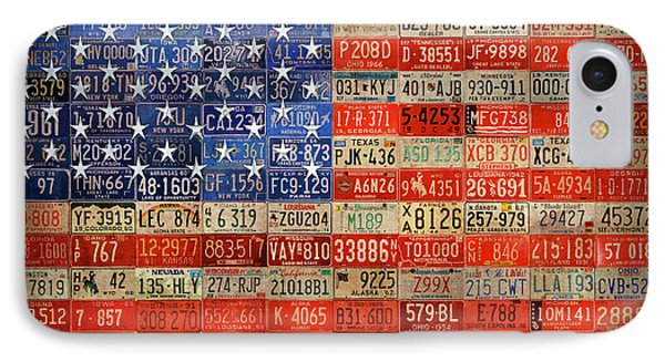 50 Plates One Union Recycled License Plate American Flag IPhone Case by Design Turnpike