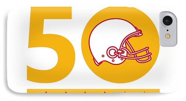 50 Pro Football Championship Sunday Helmet IPhone Case by Aloysius Patrimonio