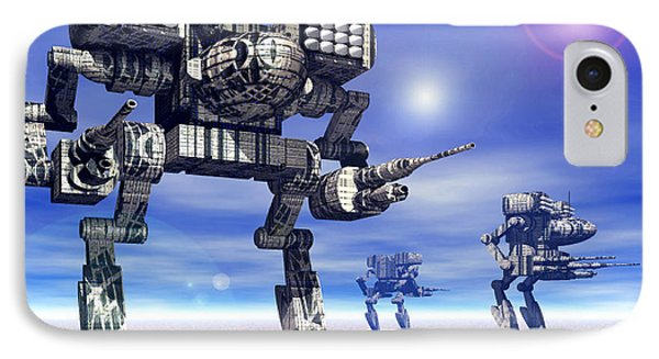 501st Mech Trinary IPhone Case by Curtiss Shaffer