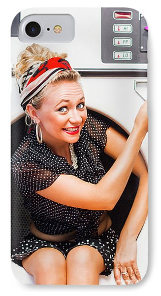 50s Thrifty Cleaning Pinup IPhone Case by Jorgo Photography - Wall Art Gallery