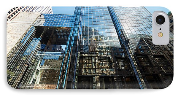 53 State Street Boston Ma Exchange Place Sun Reflection IPhone Case by Toby McGuire