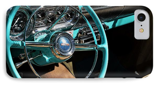 IPhone Case featuring the photograph 54 Chevy Steering Wheel by Kae Cheatham