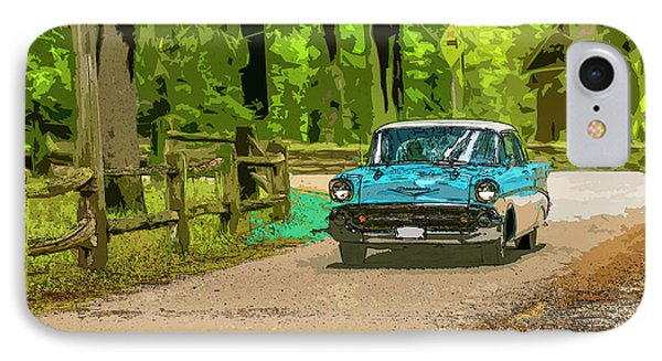 55 Chev IPhone Case by Irwin Seidman