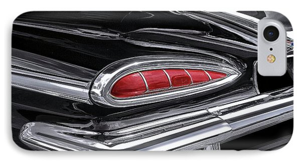 59 Chevy Tail Light Detail IPhone Case by Gary Warnimont