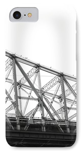 59th Street Bridge, Black And White IPhone 7 Case by Sandy Taylor