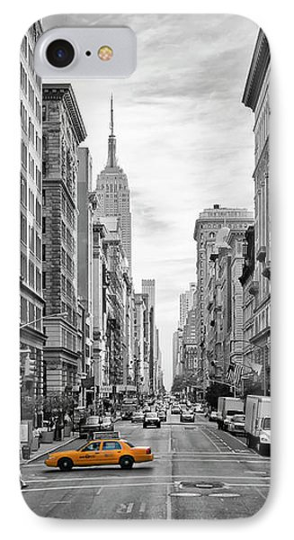 Urban 5th Avenue Nyc IPhone Case by Melanie Viola