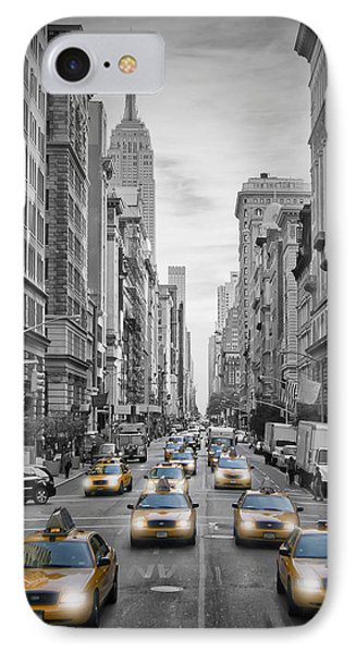 5th Avenue Nyc Traffic IPhone Case by Melanie Viola