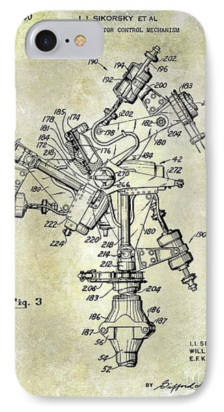 1950 Helicopter Patent IPhone 7 Case