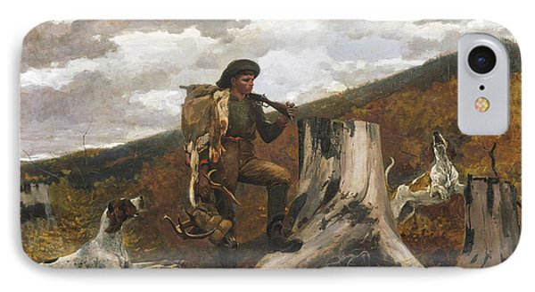 A Huntsman And Dogs IPhone Case by Winslow Homer
