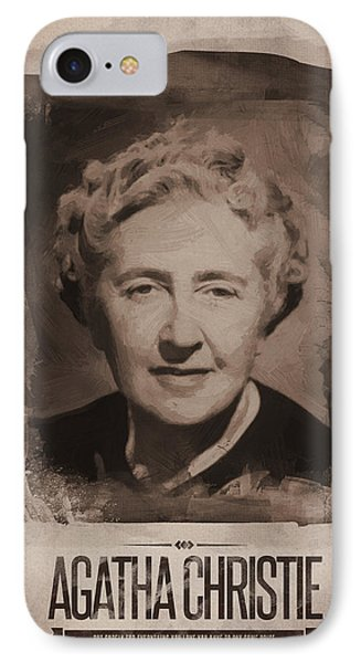 Agatha Christie 02 IPhone Case by Afterdarkness