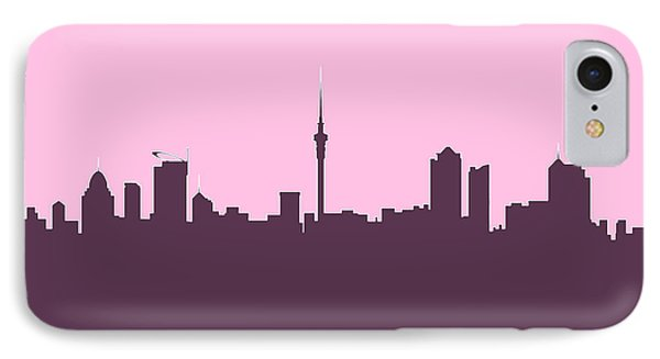 Auckland New Zealand Skyline IPhone Case by Michael Tompsett