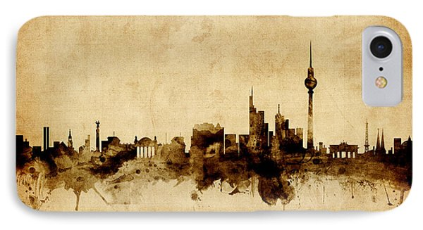 Berlin iPhone 7 Case - Berlin Germany Skyline by Michael Tompsett