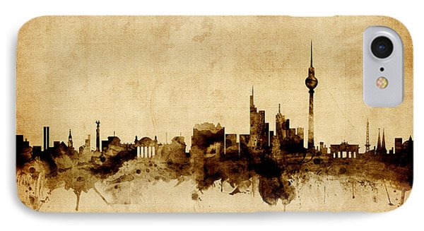 Berlin Germany Skyline IPhone 7 Case by Michael Tompsett