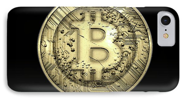 Bitcoin Physical IPhone Case by Allan Swart