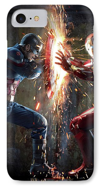 Captain America Civil War 2016 IPhone Case by Unknown