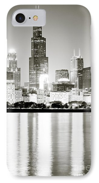 Chicago Skyline At Night IPhone 7 Case by Paul Velgos