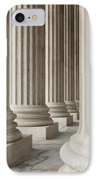 Columns Of The Supreme Court Phone Case by Roberto Westbrook