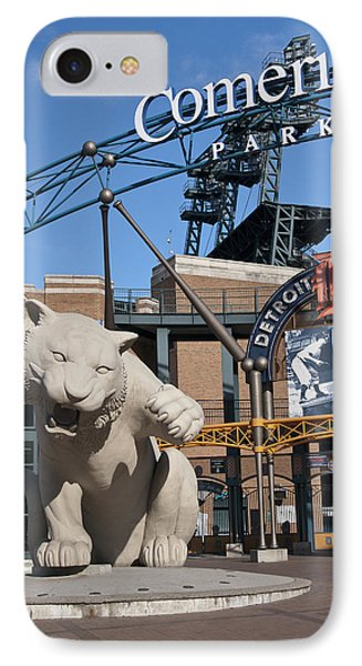 Comerica Park IPhone Case by Cindy Lindow