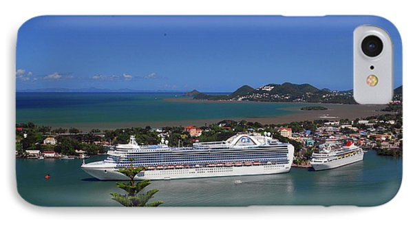 IPhone Case featuring the photograph Cruise Ship In Port by Gary Wonning