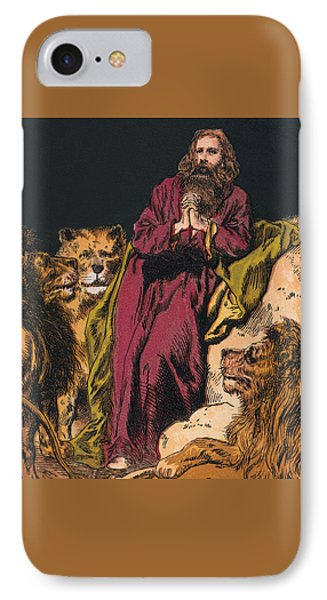 Daniel In The Lions' Den IPhone Case by English School