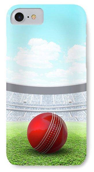 Cricket iPhone 7 Case - Floodlit Stadium Day by Allan Swart
