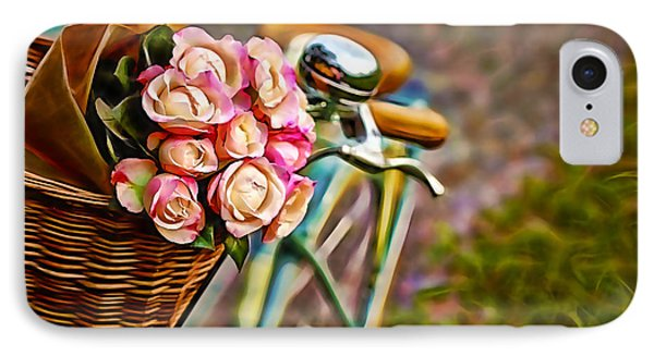 Flower Bike Collection IPhone Case by Marvin Blaine