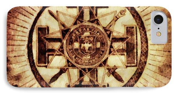 Freemason Symbolism By Pierre Blanchard IPhone Case by Pierre Blanchard