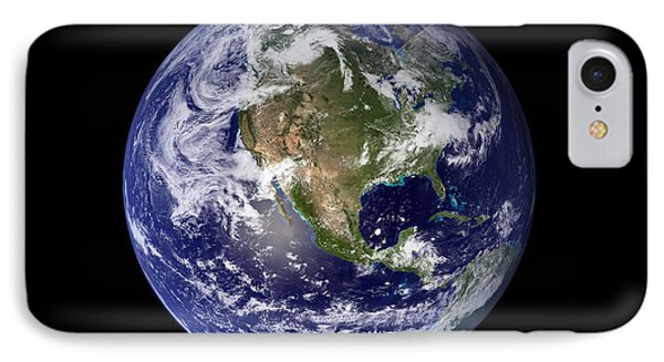 Full Earth Showing North America Phone Case by Stocktrek Images