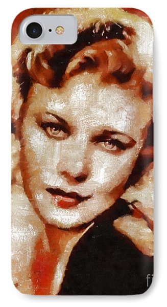 Ginger Rogers Hollywood Actress And Dancer IPhone Case by Mary Bassett