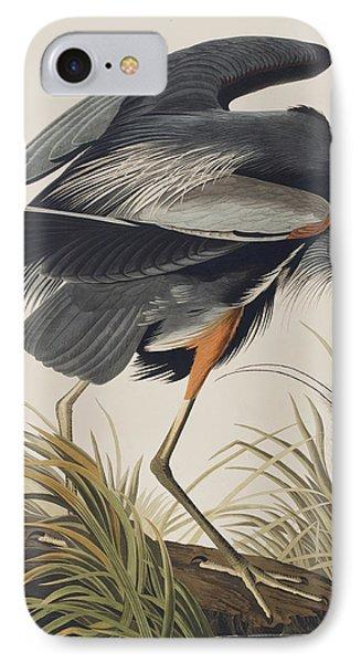 Great Blue Heron IPhone 7 Case by John James Audubon