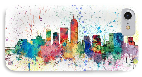 Indianapolis Indiana Skyline IPhone Case by Michael Tompsett