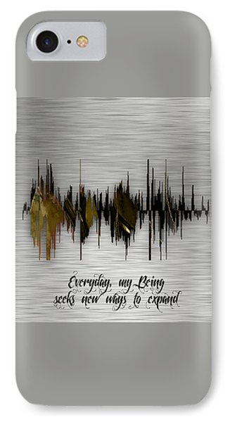 Inspirational Soundwave Message IPhone Case by Marvin Blaine