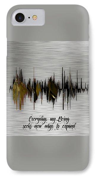 Inspirational Soundwave Message IPhone Case