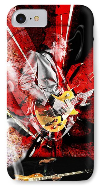 Joe Bonamassa Blues Guitarist Art. Phone Case by Marvin Blaine