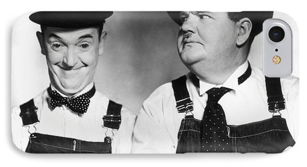 Laurel And Hardy IPhone Case by Granger