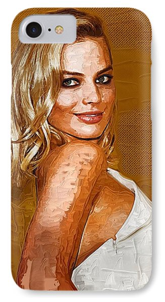 Margot Robbie Art IPhone Case by Best Actors