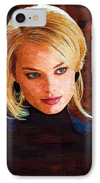 Orlando Bloom iPhone 7 Case - Margot Robbie Painting by Elizabeth Simon