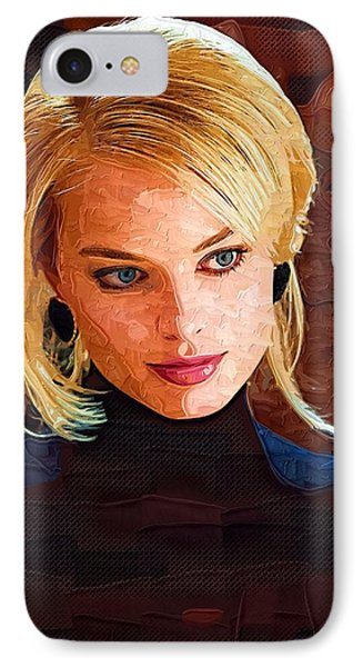 Margot Robbie Painting IPhone 7 Case by Best Actors