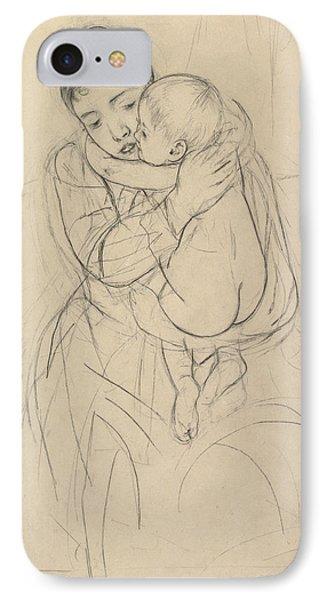 Maternal Caress IPhone Case by Mary Cassatt