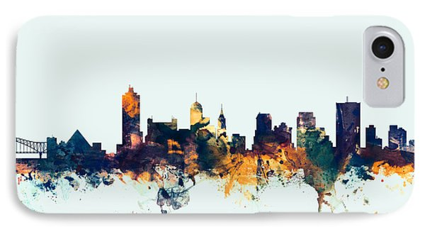 Memphis Tennessee Skyline IPhone Case by Michael Tompsett